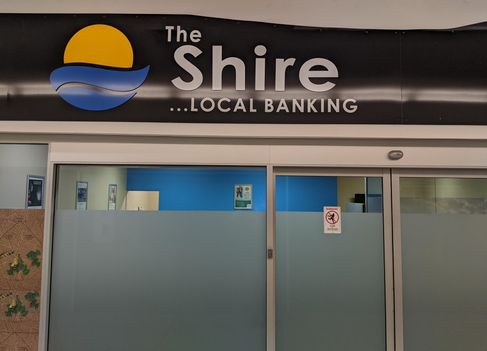 The Shire ... Local Banking (1) Taken by Ben Woods March 2020. Office closed sometime after merger with IMB Bank in 2016